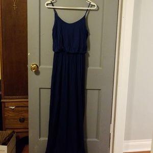 Lush medium blue maxi dress NWT